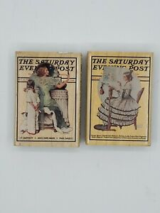 Vintage Rubber Stamps Set Of Two #711 Going Out, #710 Sampler