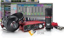 Focusrite Scarlett 2i2 G2 Studio Pack Recording Bundle Mic Headphones Pro Tools