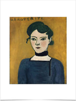 HENRI MATISSE PORTRAIT DE MARGUERITE LIMITED EDITION BIG BORDERS ART PRINT 18X24