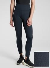 Athleta Delancey Herringbone Tight Legging Texture Pant Navy #487663 NEW XL