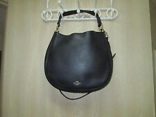 "coach nomad glove tanned leather hobo bag~retail $495 usd 13.5""L x 3.75H x 12"""