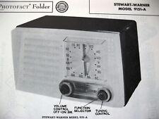 STEWART WARNER 9151-A RADIO PHOTOFACT