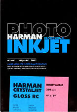 "Harman Photo Crystal Jet Inkjet Paper GLOSS 4x6""  x100"