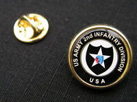 """Pin's """" US ARMY 2nd INFANTRY DIVISION """" USA ww2 JEEP omaha beach INDIAN HEAD"""