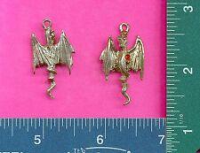 12 wholesale lead free pewter dragon pendants 4018