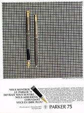 PUBLICITE ADVERTISING   1967    PARKER  stylo plume & bille