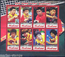 MALAWI TOP PING PONG  OF ALL TIME    SHEET OF EIGHT MINT NH