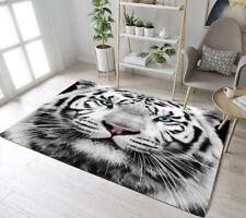 Animals White Siberian Tiger Area Rugs Kids Bedroom Carpet Living Room Floor Mat