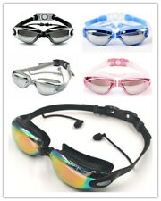 Swimming Goggles with Ear Plugs Anti-Fog Summer Uv Protection Men/Women/Children