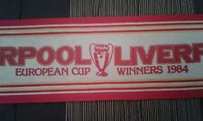SCIARPA SCARF VINTAGE LIVERPOOL DATED 1984 CHAMPION EUROPE ROME ROMA