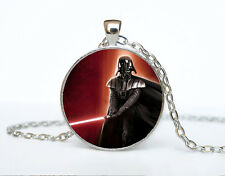 Star Wars Photo Cabochon Glass Tibet Silver Chain Pendant Necklace AAA41