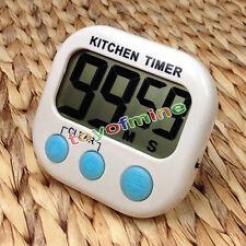 Große LCD Digital Küche Kochen Timer Countdown bis Clock Loud Alarm Magnetisch