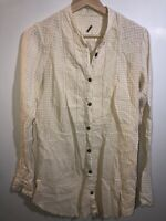 Free People Button Down Long Sleeve Tunic Size Small