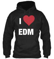 I Heart Edm - Love Gildan Hoodie Sweatshirt