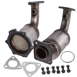Pair Catalytic Converters Driver Passenger Side for Nissan Murano 3.5L 03-07