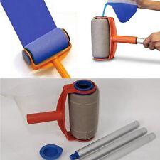 5Pcs Pro Paint Roller Kit Brush Tray Painting Runner Pintar Tool Facil Decor
