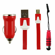 Universal Trio Pack (Micro USB, Cargador de coche, Lápiz óptico mini) de Foxnovo