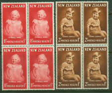 New Zealand. 1952. Health. Set of 2 in Blocks. MUH.