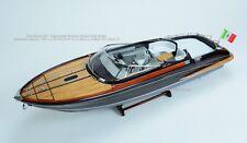 "Riva Rama Classic Boat 35"" Handmade Wooden Boat Model"