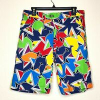 Loudmouth Multicolored Martini Glass Men's Golf Shorts 32