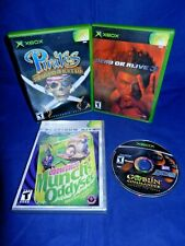 Lot of 4 XBox;Pirates Leg. of Blk Kat,Oddworld Munch's Oddysee,Dead Or Alive 3,+