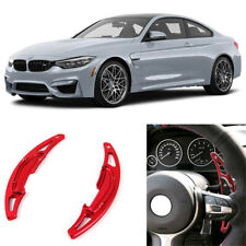 Red Aluminum Steering Wheel Shift Paddle Extension For 15-19 F80 F82 F83 M3 M4