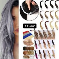 Seamless 16-22Inch Real Tape In Skin Weft Ombre Remy Human Hair Extensions 20PCS