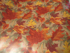 """Autumn Leaves Gift Wrap 1 box 24"""" by approx 95' (lot 32) Beautiful, glossy!"""