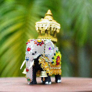Ceylon Handmade Wooden TUSKER Valentine Gift Statue Décor Traditional ELEPHANT