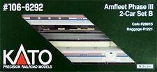 KATO N Scale Amfleet I Phase VI 2-Car Set B # 106-8003