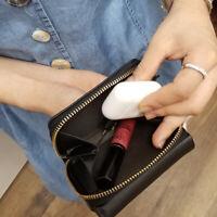 WOMEN'S SOFT LEATHER TRIFOLD WALLET ZIPPER COIN CARD HOLDER POCKET MINI PURSE