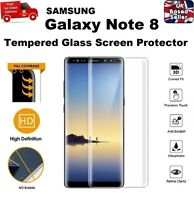 3D Curved Shatter Proof Tempered Glass Screen Protector For Samsung Note 8 CLEAR