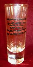 South Of The Border Double Shot Glass Clear Dark Red & Black Decals Logo (O2)