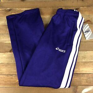 Asics Women's Hurdle Track Pants XS Purple Zip Up Legs NEW Warmup Parachute