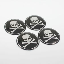 Skull Emblem Car Wheel Center Hub Cap Emblem Badge Sticker For Toyota 56.5MM