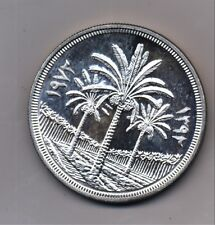 Iraq 1972 Silver Dinar PROOF  25th Anniversary of Central Bank KM 137