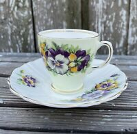 Vintage Old Royal Bone China 3039 England Demitasse Cup & Saucer