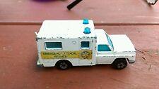 Vintage Superfast Matchbox  1977 No. 41 Ambulance Emergency Medical Service Car