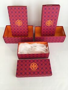 Three New Tory Burch Empty Shoe Boxes Gift White Tissue Storage