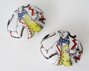 1950s Pair of Piero Fornasetti Italy Ceramic Pebble Paperweights