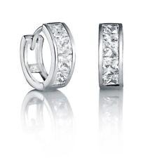 Pendientes de joyería clips de plata de primera ley