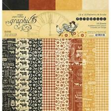 "Graphic 45 12""x12"" Double-Sided Paper Pad 16pcs -  Farmhouse"