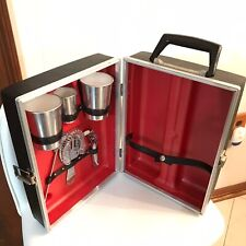 Vintage 1960s Tra 00006000 vel Bar Case- Mid Century Barware- Bar Tools- Travel Cocktails