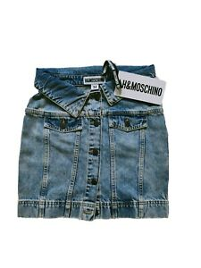 MOSCHINO for H&M JEANS SKIRT WOMAN Size 34