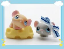 ❤️Littlest Pet Shop LPS Lot Mouse #309 #261 Pink Magnet Mice With Accessories❤️