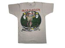 Vintage 80s IRON MAIDEN Somewhere on Tour Eddie Lives 1987 CONCERT T-SHIRT USA M
