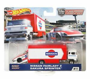 Hot Wheels Team Transport 2019 #11 Nissan Fairlady Z Sakura Sprinter - In Stock
