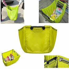 Lime Grab Bag Clip-To-Cart Reusable Grocery Supermarket Shopping Bag Travel bag