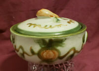 "LOUISVILLE Pottery - HARVEST PEAR Pattern - 7"" Individual Covered CASSEROLE"