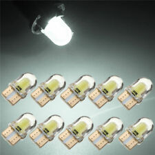 10 X T10 194 168 W5W COB 8 SMD LED CANBUS Silica Bright White License Light Bulb
